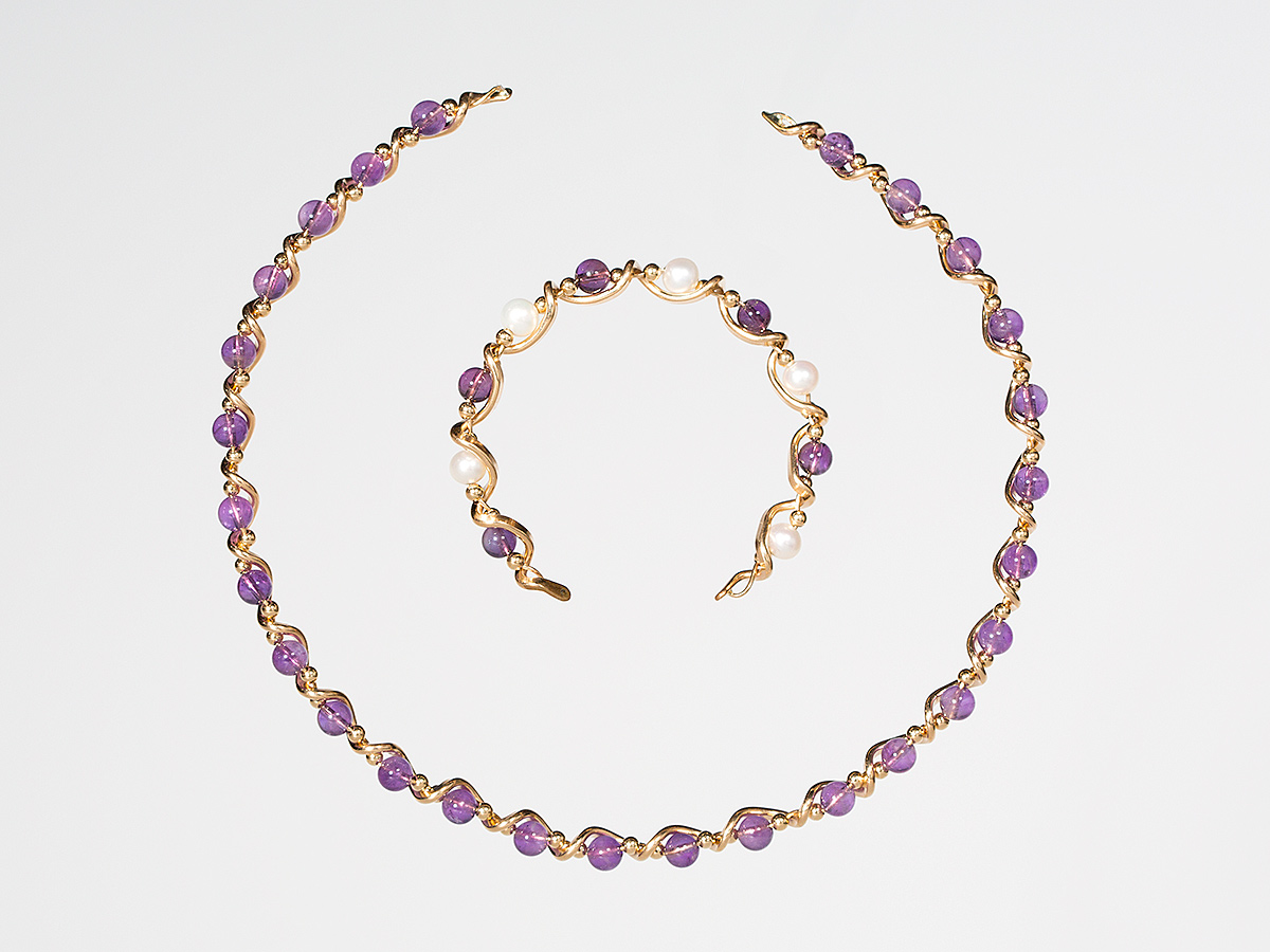 Amethyst Jewelry from James Russell Goldsmiths, Rockport, MA